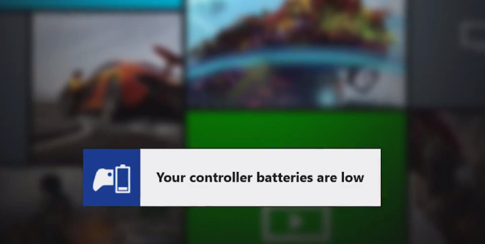 Low Battery Xbox One