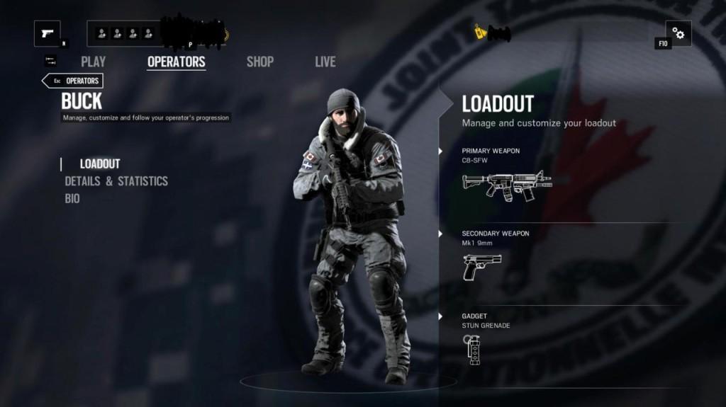 Rainbow Six Siege Black Ice Buck
