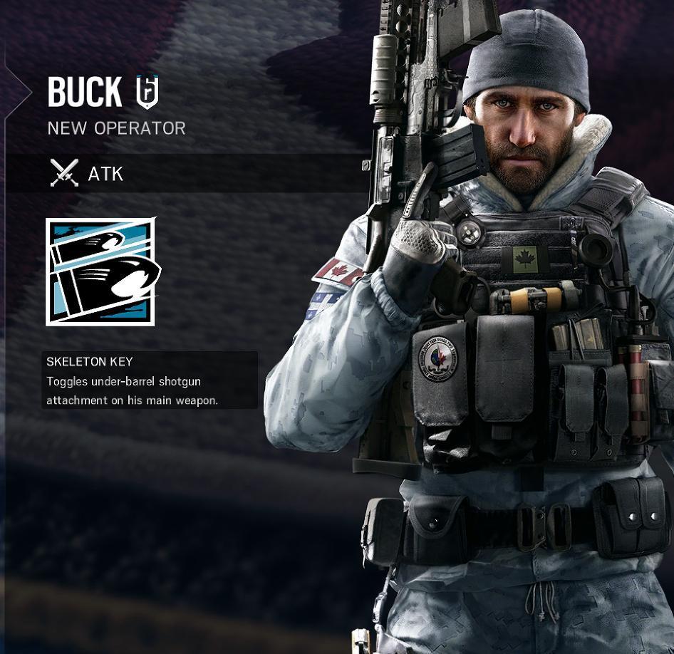 Rainbow Six Siege Black Ice Buck Operator