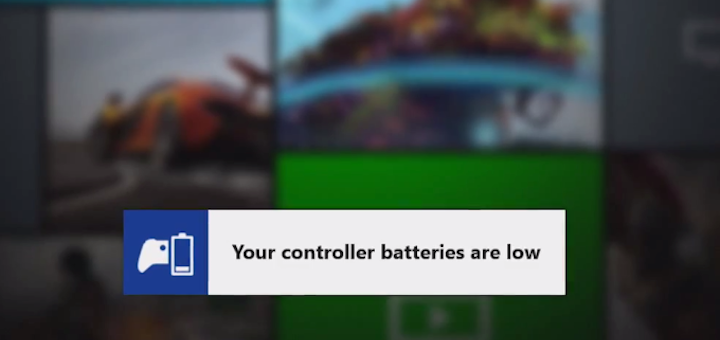 Xbox One Battery Low