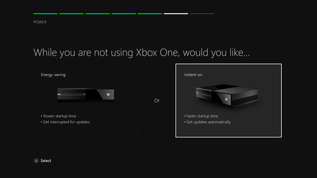 Xbox One Energy-Saving vs Instant-On
