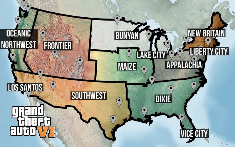 GTA VI mapa
