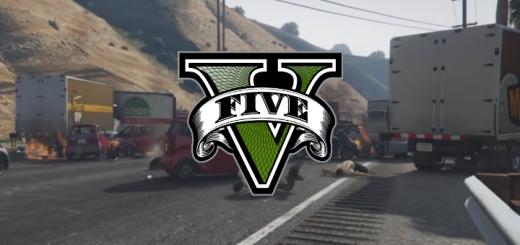 GTA V pad z motorky