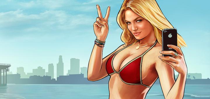 GTA V Beach Girl