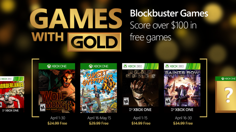 Games with Gold April 2016