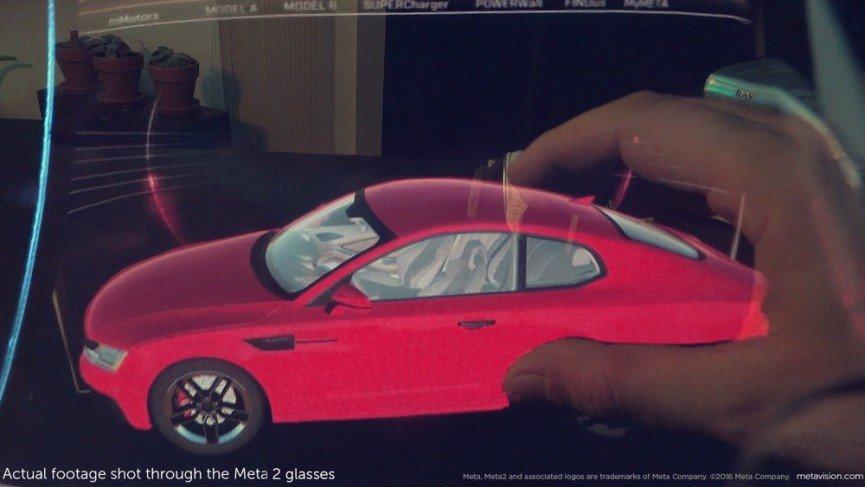 Meta 2 AR footage