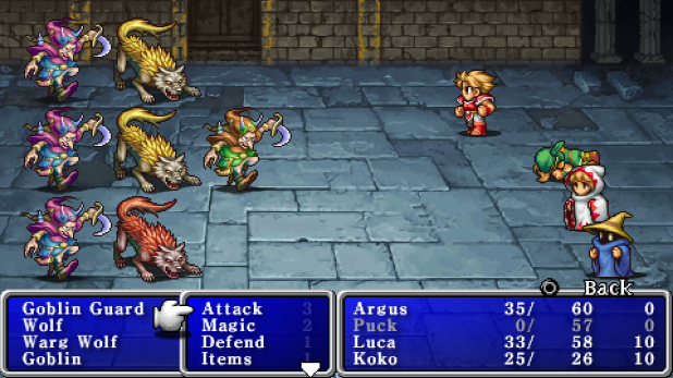 Final Fantasy PSP gameplay