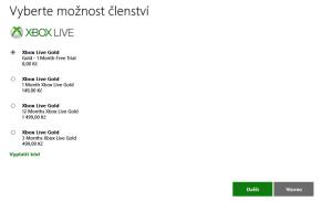 Xbox Live Gold 1 mesic zdarma