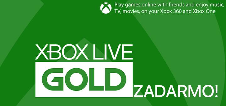 Xbox Live Gold Zadarmo