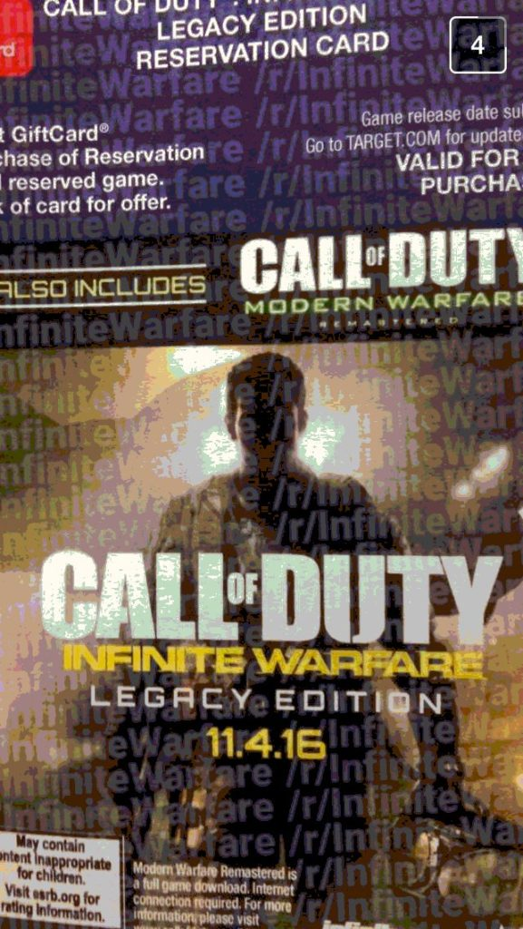 Call of Duty Infinite Warfare and Modern Warfare Remastered