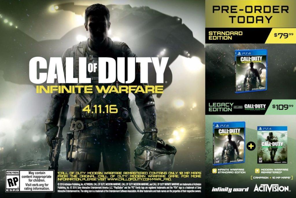 Call of Duty Infinite Warfare PreOrder