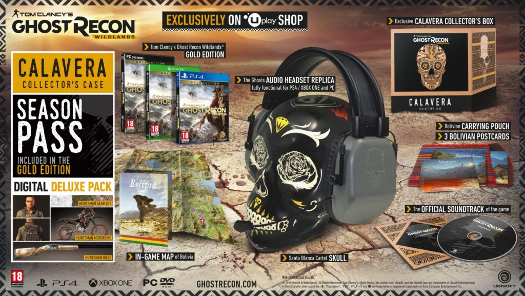 Ghost Recon Wildlands Calavera Collectors Edition