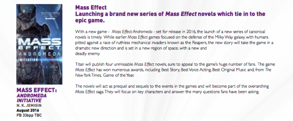 Mass Effect Andromeda Books
