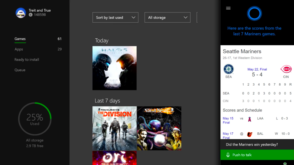 Xbox Summer Update Cortana