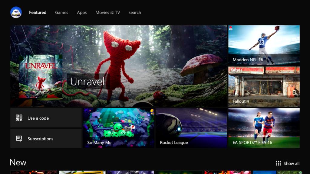 Xbox Summer Update Store