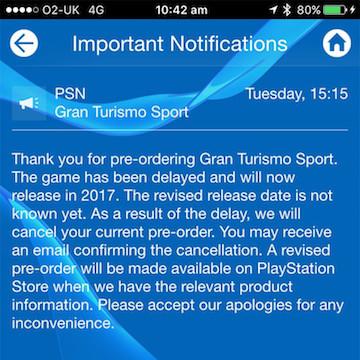 Gran Turismo Sport Cancelled
