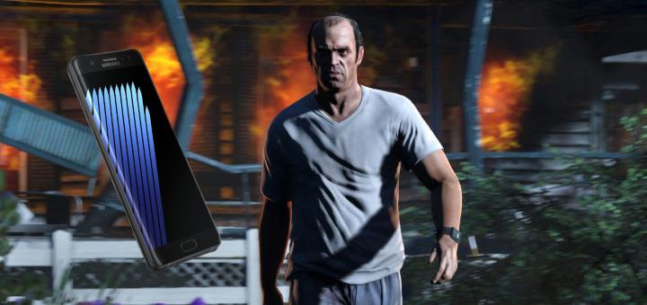 GTA V Galaxy Note 7