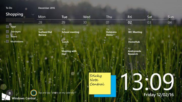 Home Hub Family Desktop Home Screen