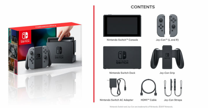 Nintendo Switch Contents of the Box