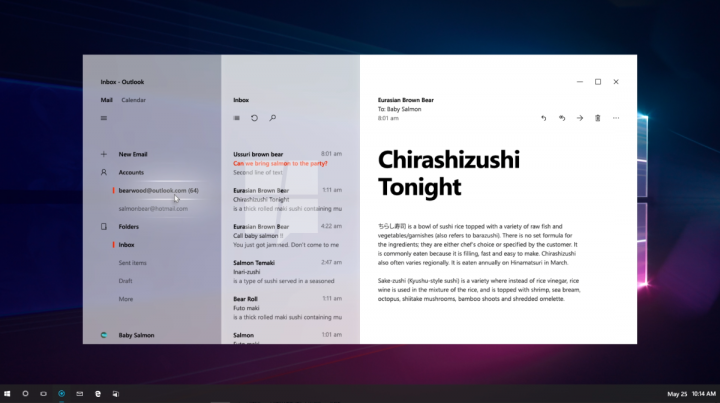 Project NEON Concept Windows 10