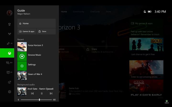Xbox Guide Creators Update