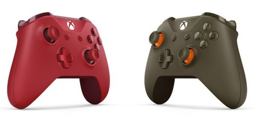 Xbox One S Red Green Orange Controllers