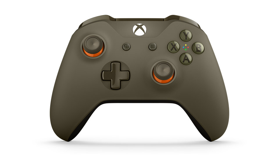 Xbox One S Wireless Controller Green-Orange
