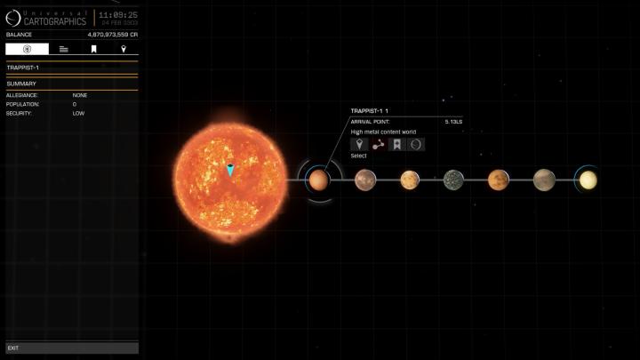 Elite Dangerous TRAPPIST-1