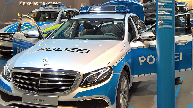 Mercedes E Class Police Car Windows 10 Continuum 2017