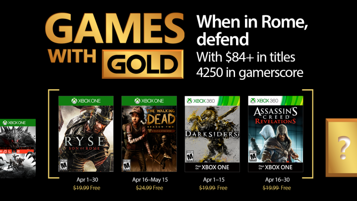 Games with Gold April 2017