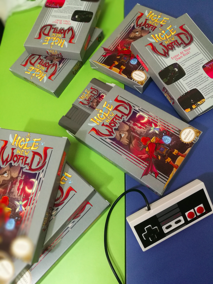 A Hole New World NES Cartridge