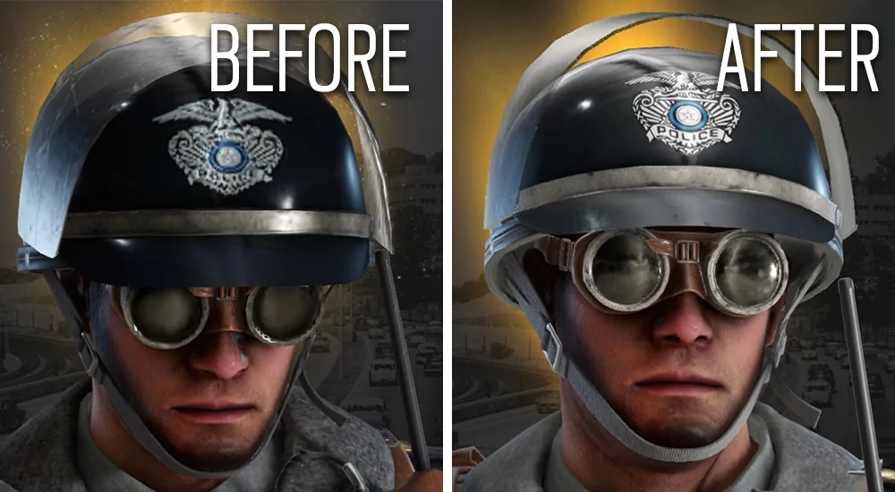 Rainbow Six Siege UHD Patch Character Comparison