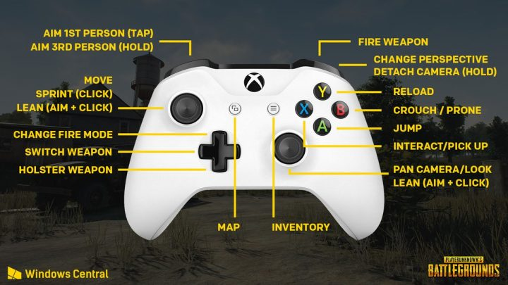 PlayerUnknown's Battlegrounds Xbox Controls