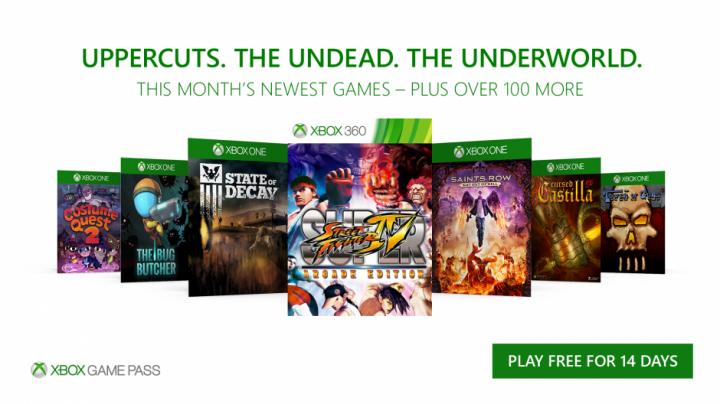 Xbox Game Pass October 2017