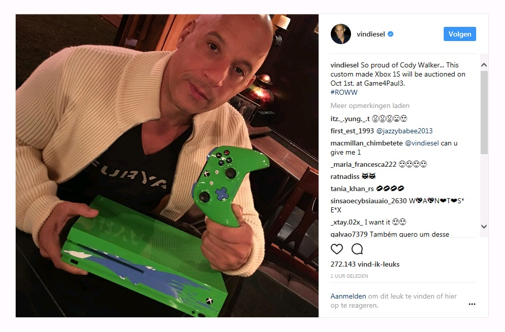 Xbox One S Paul Walker Charity Edition