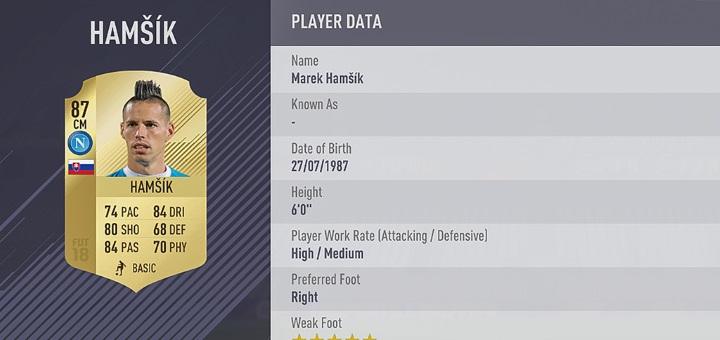 FIFA 18 Marek Hamšík