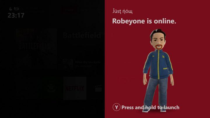 Xbox Idle Notification