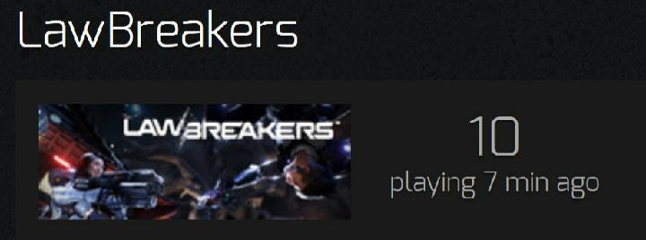 LawBreakers 10 People Online