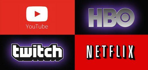 YouTube Twitch HBO Netflix
