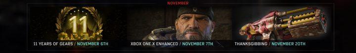 Gears of War 4 November 2017
