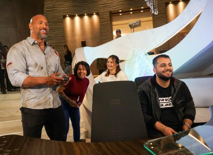 The Rock plays with the Xbox One X