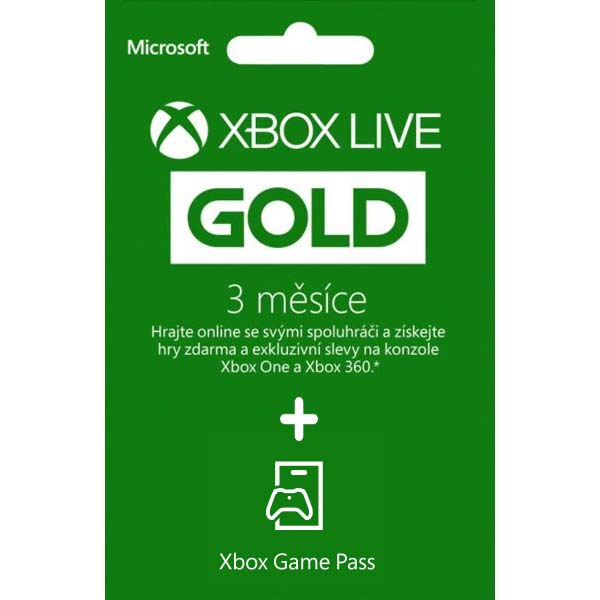 Xbox Live Gold 3 Month + Xbox Game Pass