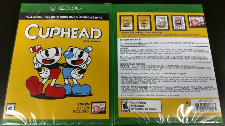 Cuphead Physical Release