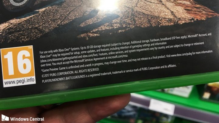 PUBG Xbox One Packaging