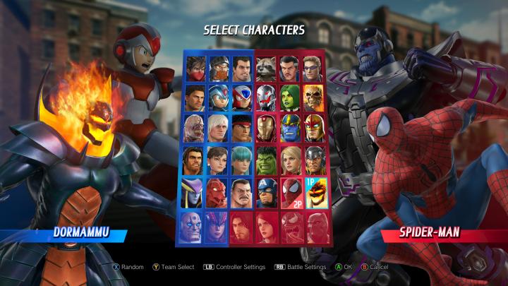Marvel vs Capcom Character Roster