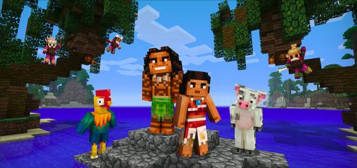 Disney Moana Vaiana Skin Pack Minecraft