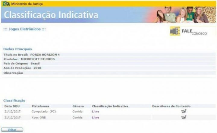 Forza Horizon 4 Brazil Rating