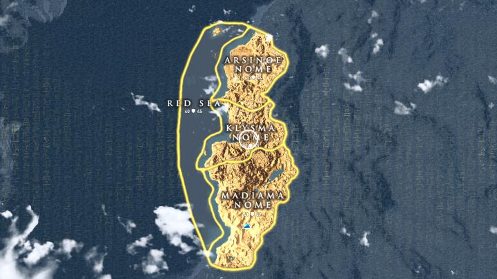 Assassin's Creed Origins Hidden Ones Sinai Map