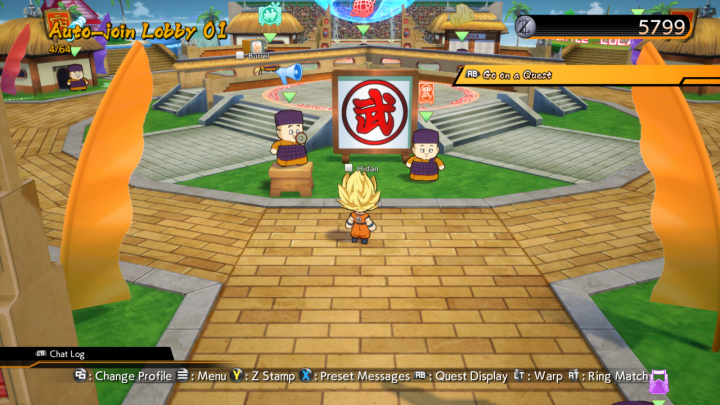 Dragon Ball FighterZ Lobby