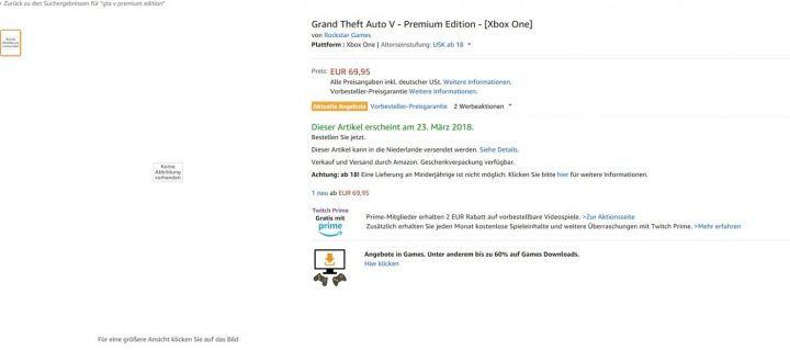 GTA V Premium Edition Xbox One Amazon